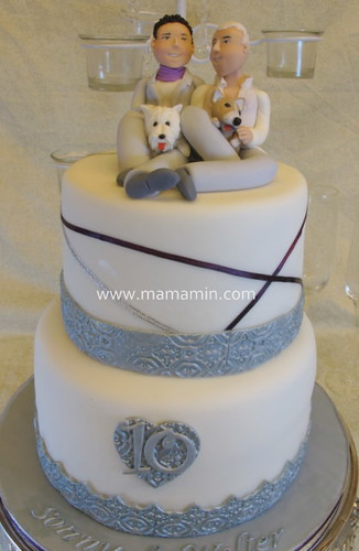 Posted in Anniversary, Cakes | Tagged gay, silver and white | 2 Comments ?