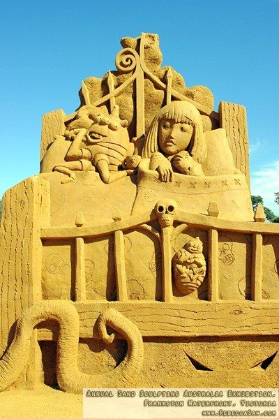 Annual Sand Sculpting Australia exhibition, Frankston waterfront-15