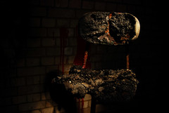 Burnt out chair (dragon2309) Tags: red out dead blood chair tunnel burnt ash shorts