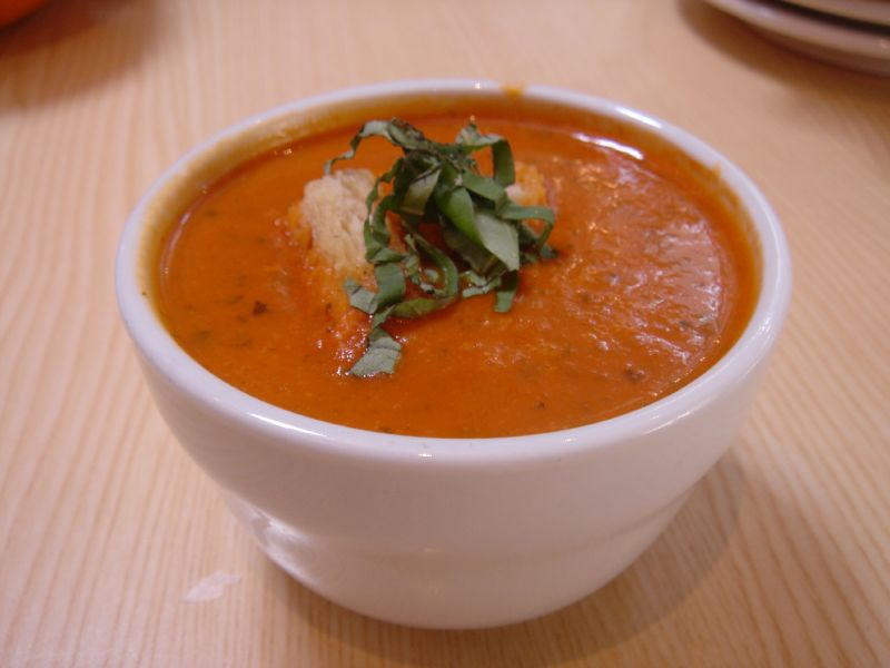 Cream of Tomato Soup with Basil