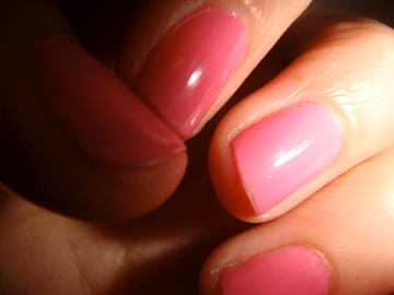valentine nail art pink nails