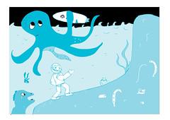Kosmos 9 (sveeta) Tags: blue water comics back time space astronaut adventure octopus cosmos kosmos 24h