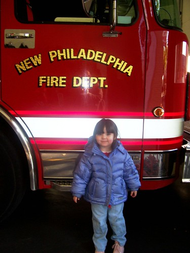 Julia visits the Fire Department