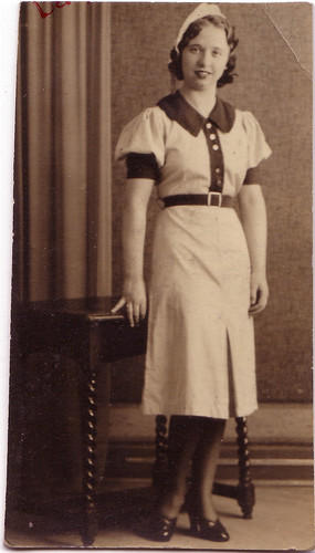Bette Mansfield an usherette at The Electric in the 1930s.  For the original image please click on the picture.