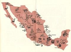In Mexico Booklet - Map (Cowtools) Tags: vintage ephemera