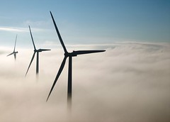 above the clouds (Nick Hess) Tags: above blue sky fog clouds work nebraska energy power wind no samsung windmills clean where middle source windfarm renewable ainsworth digimax s500 windturbines vestas v82 nickhess