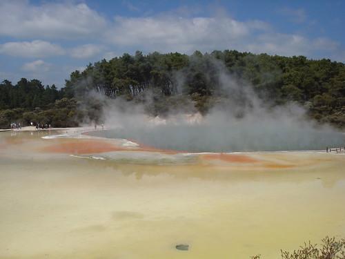 agua de colores hirviendo