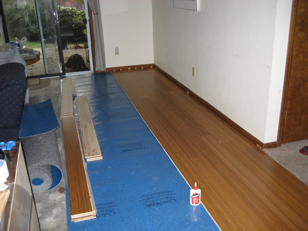 Bamboo flooring: during