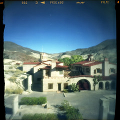 (magnifik 2.0) Tags: california 120 scanned deathvalley pinholephotography expiredfilm scottyscastle homemadecamera fujipro160s magnifik 5secondsexposure royaljamaica pinholediameter015mm nopsdpostprocessing cigarboxpinholecamera focallength55mm expiredon112006 magnifikstudio magnifikstudiocom