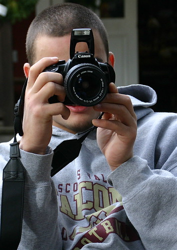 Improper way to hold camera