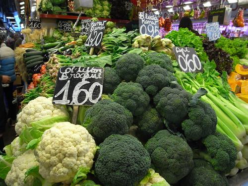 Veggies at Boqueria Market