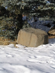 Petroglyph Rock II, Mabel Dodge Luhan House, Taos, New Mexico, February 2007,photo © 2007 by QuoinMonkey. All rights reserved.