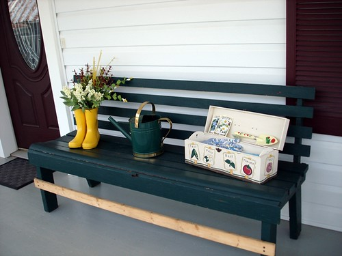 spring porch bench