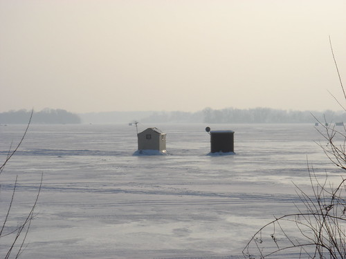 Ice Houses on Lake Minnetonka