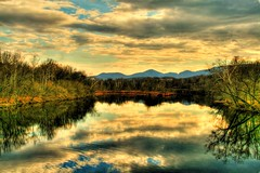 Winters River ( D L Ennis) Tags: trees clouds reflections evening virginia bravo blueridgemountains winters jamesriver supershot magicdonkey spectacularlandscape abigfave platinumphoto anawesomeshot dlennis wintersriver
