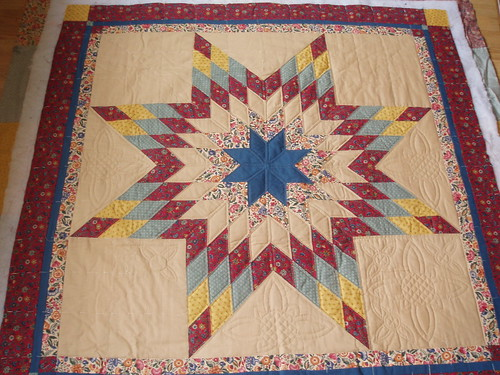 star quilt in progress