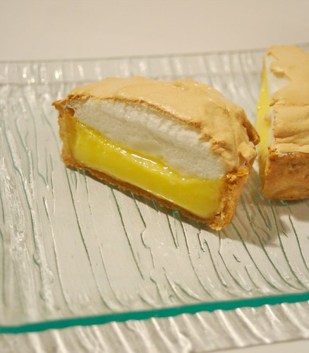 Lemon meringue pie, open