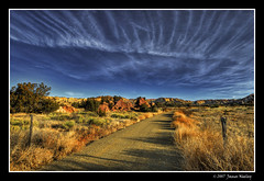 Road to the Land of Enchantment (James Neeley) Tags: madrid road newmexico nature landscape hdr landofenchantment 5xp jamesneeley