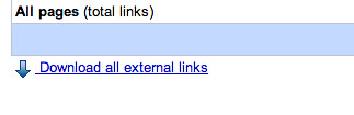 Google Webmaster External Links