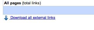 Google Webmaster External Links