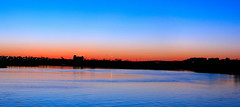 """Fantasy"" Tropical Sunset (Shutter Man) Tags: blue trees sunset panorama orange reflection nature water silhouette canon outdoors lights colorful massachusetts lynn marsh ripples saltwater g7"