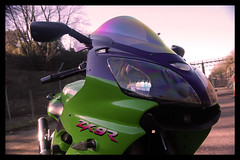 Front (terribleturner) Tags: bike motorbike motorcycle kawasaki zx9r zx9 zx900