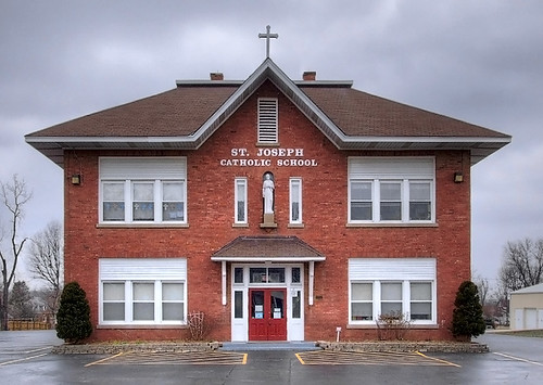 Saint Joseph Roman Catholic Church, in Bonne Terre, Missouri, USA - school
