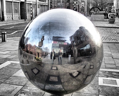 Photographers with Reflecting Sphere (tj.blackwell) Tags: reflection ball manchester geometry sphere refraction escher scienceandindustrymuseum