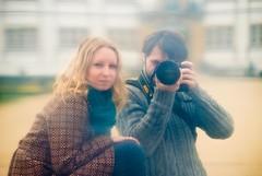 The model and the photographer (besimo) Tags: portrait reflection mirror besim 80200mmf28 nikond80 julitta portrt removedfromadobelightroomfortags schlo§neuhaus besimazhiqi