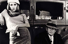 """Bonnie & Clyde"" production still (beastandbean) Tags: 1920s dvd oscar wb historic genehackman slomo bloody finale cinematography bros lovestory machinegun winning reallife warnerbrothers violent fayedunaway productionstills academyaward criminals nominated bonnieclyde bonnieparker clydebarrow depressionera warrenbeatty bankrobbers truelife shootouts arthurpenn classicfilms deluxeedition robertbenton estelleparsons twodiscset collectorseditiondvd werobbanks classicscenes movieviolence filmsofthe1960s"