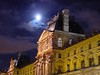 Moonlight over the Louvre - Paris, France
