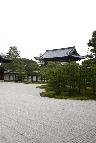 Honmaru Palace dry garden at Ninna-ji