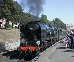 DSCN7962 (Sou'wester) Tags: heritage train diesel rail railway steam dorset locomotive preserved swanage preservation corfecastle