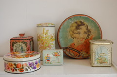 new tins (ATLITW) Tags: kitchen vintage retro eclectic homedecor tins thrifted