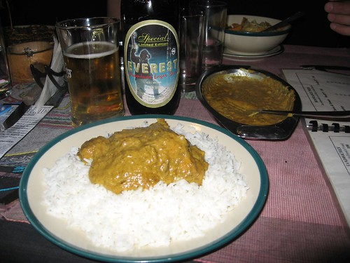 Curry and beer - yum