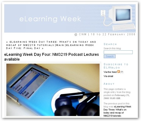 eLearning Week blog