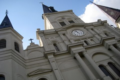 New Orleans - French Quarter:  St. Louis Cathedral (wallyg) Tags: church louisiana cathedral basilica neworleans landmark frenchquarter nola cathedrale stlouiscathedral historicdistrict vieuxcarre saintlouiscathedral orleansparish cathedralbasilica orleanscounty nationalregisterofhistoricplaces nrhp vieuxcarr usnationalregisterofhistoricplaces basilicaofstlouis gilbertoguillemard henrysbonevallatrobe henrybonevallatrobe jnbdepouilly vieuxcarrhistoricdistrict vieuxcarrehistoricdistrict jacquesnbdepouilly cathdraledesaintlouis cathedraledesaintlouis basilicaofstlouiskingoffrance cathdraledestlouis cathedraledestlouis basilicaofsaintlouis ushistoricdistrict
