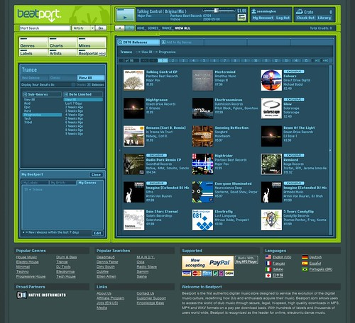 Beatport / 2008-05-08 / SML Screenshots (by See-ming Lee 李思明 SML)