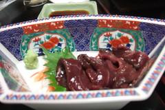 Shiga Cuisine: Duck sashimi - kamo sashi