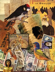 Fairy Tale Writer (nkimadams) Tags: money david beauty birds statue collage angel poster greek adams stamps books amazingcolors mothergoose manuscripts blueribbonwinner mywinners impressedbeauty