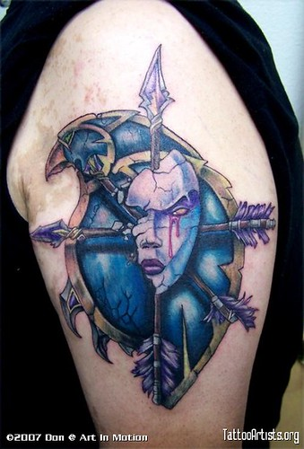 Cool wow tattoo I found on the wow forum. www.world-of-warcraft-videos.c om