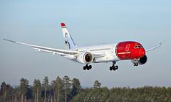 Norwegian LN-LND, OSL ENGM Gardermoen (Inger Bjørndal Foss) Tags: lnlnd norwegian boeing 787 7878 dreamliner osl engm norway gardermoen