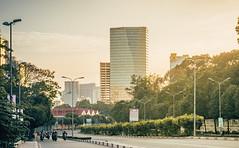 Lim Tower. (Lazy Lounger) Tags: skyline skyscraper landscape city cityscape urban urbanscape urbex saigon vietnam sunset dusk road traffice