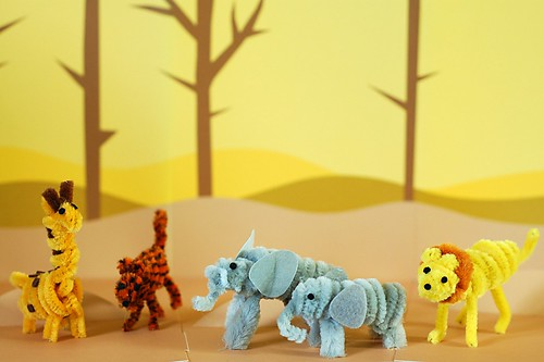 Pipe cleaner safari.