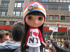 hannah came with us yesterday to stand up for equality (cybermelli) Tags: new york city nyc gay love lesbian doll state rally broadway marriage fringe lgbt impact mission blythe bangs custom lm takara equality ebl