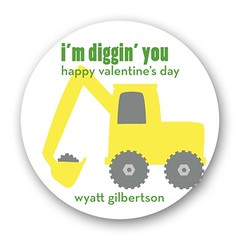 Bucket Truck Personalized Petite Valentine's Day Gift Stickers