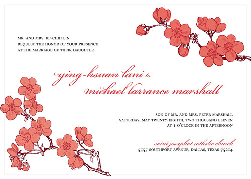Lani + Michael's wedding invitation