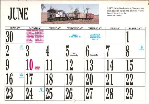 1996atc0013june Page 1996 Australian Trains Calendar A Photo On
