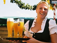 Beer Wench (Ceilidh Walker) Tags: carnival woman beer girl festival lady germany munich breasts drink oktoberfest alcohol waitress cleavage beerfest 2007