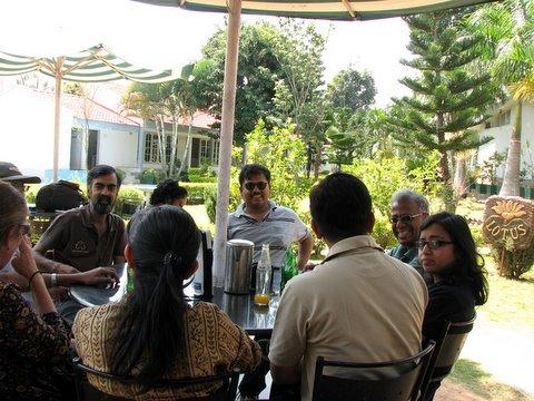 birding group at Nisarga Layout 141007